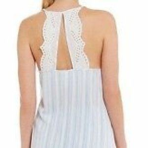 In Bloom by Jonquil Striped Eyelet Pajama Top